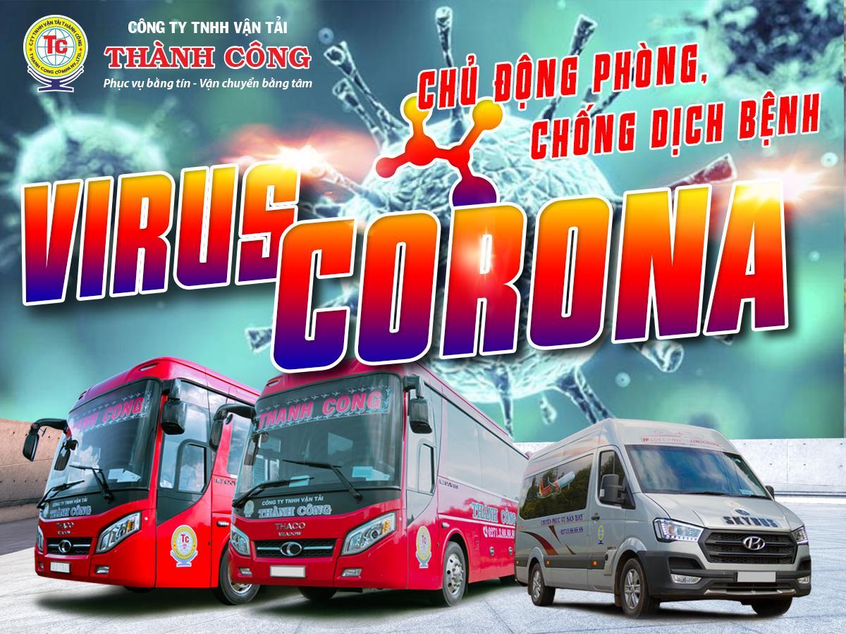 Công ty vận tải Thành Công xin gửi đến quý khách hàng hướng dẫn phòng ngừa dịch virus Corona